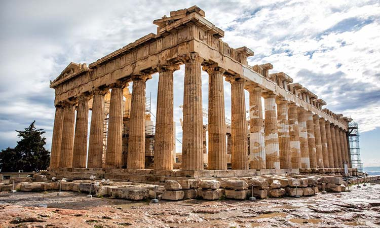 Su kien khien den Parthenon noi tieng Hy Lap bi hu hai nang