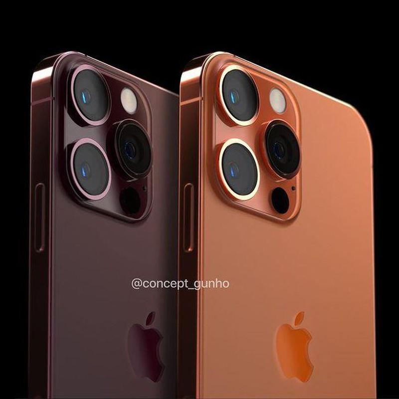 Dep long lanh concept iPhone 13 mau cam dong, canh bao iFan