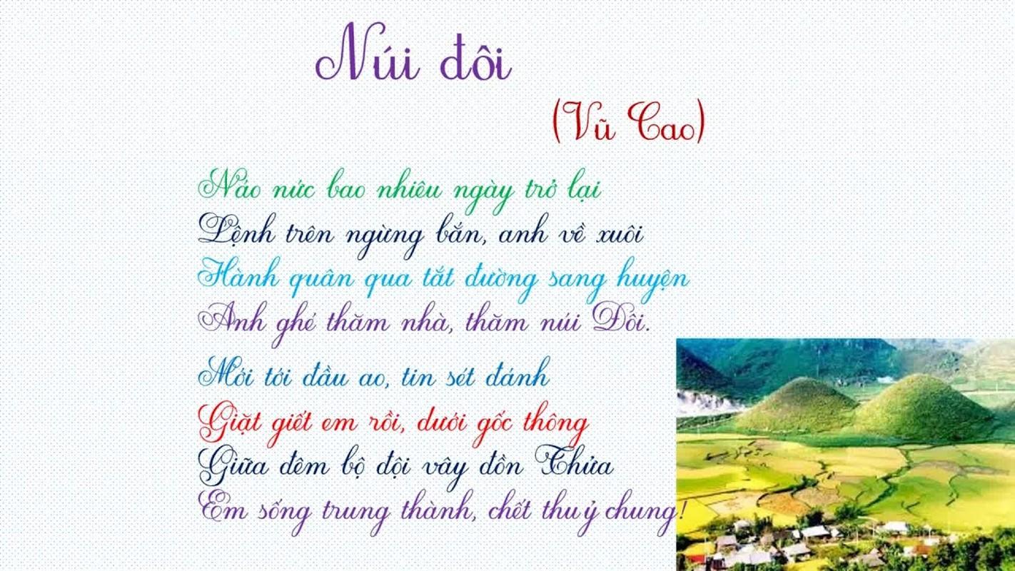 Chuyen tinh dep co that trong bai tho Nui doi noi tieng