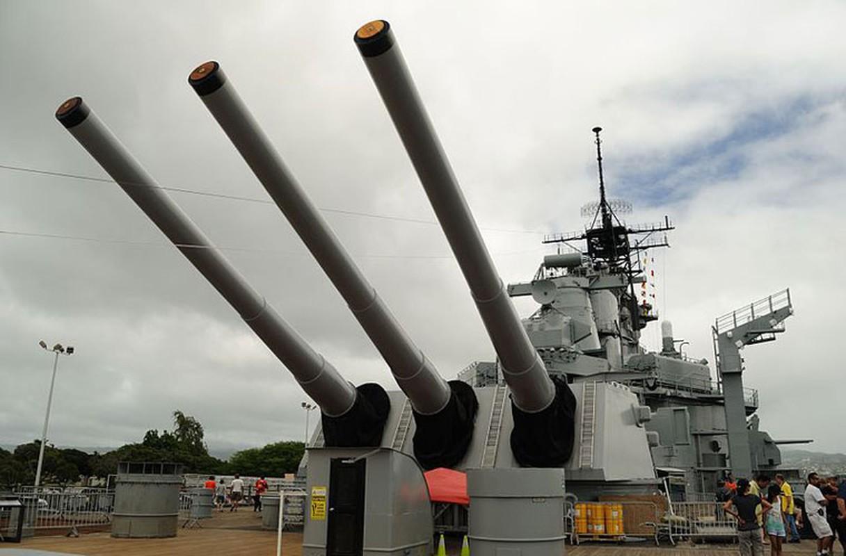 Mỗi nòng 406mm (16 inch) có chiều dài 20m, nặng 108 tấn (không có khóa nòng) hoặc 121,51 tấn (có khóa nòng).