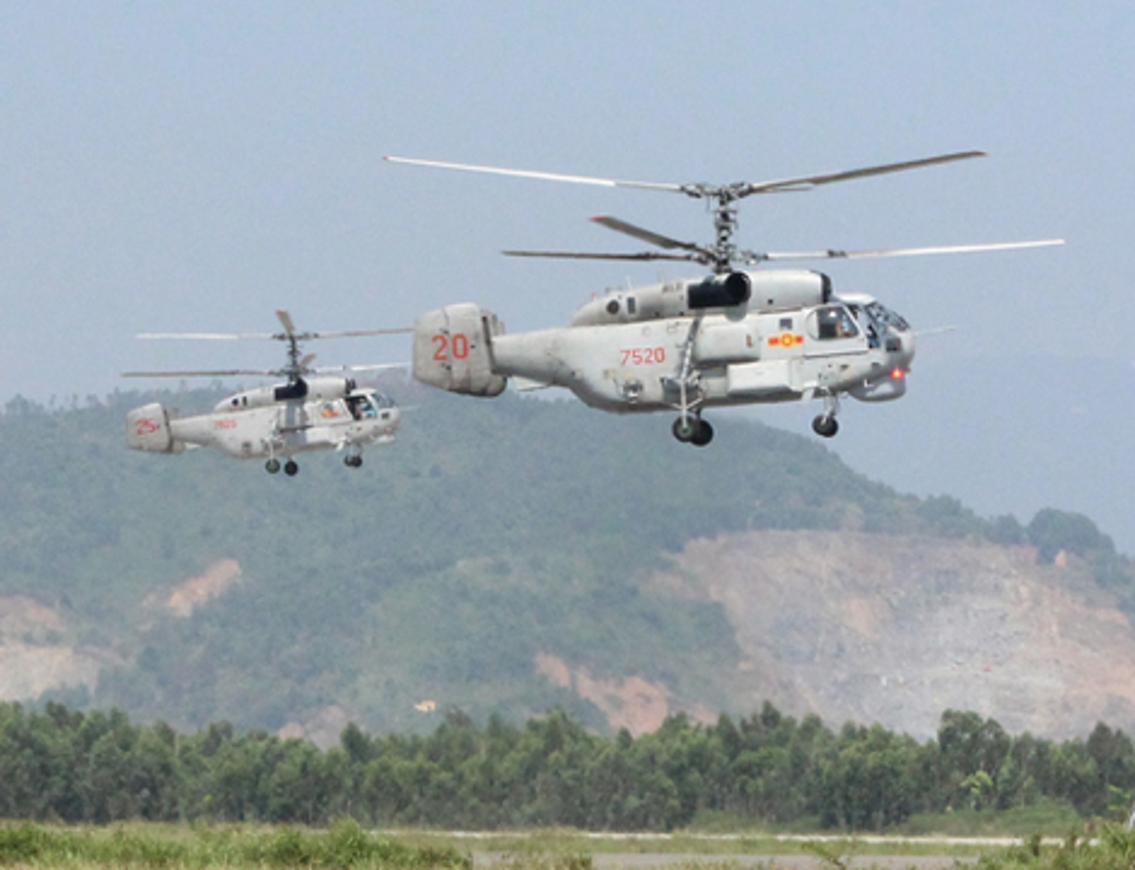 Kha nang mang bom di cua truc thang Ka-28 Viet Nam