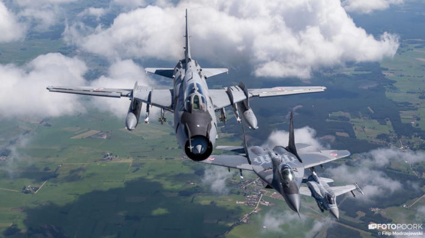 An tuong manh may bay chien dau Su-22 sat canh cung F-16-Hinh-2