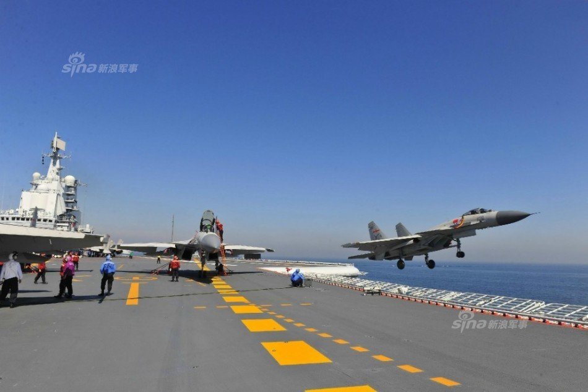 Anh: Tiem kich J-15 Trung Quoc bay tro lai sau tai nan-Hinh-3