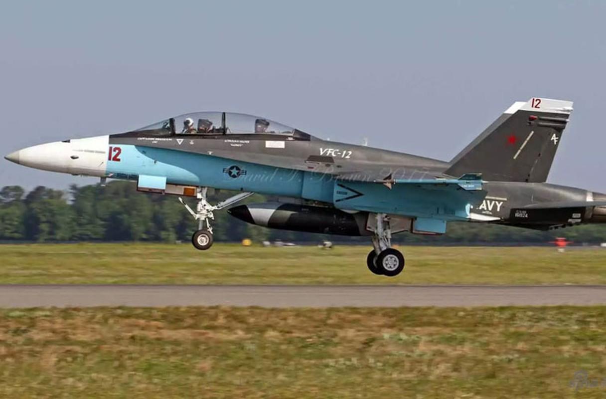 My dinh lam gi khi son F/A-18 giong het Su-34 Nga?