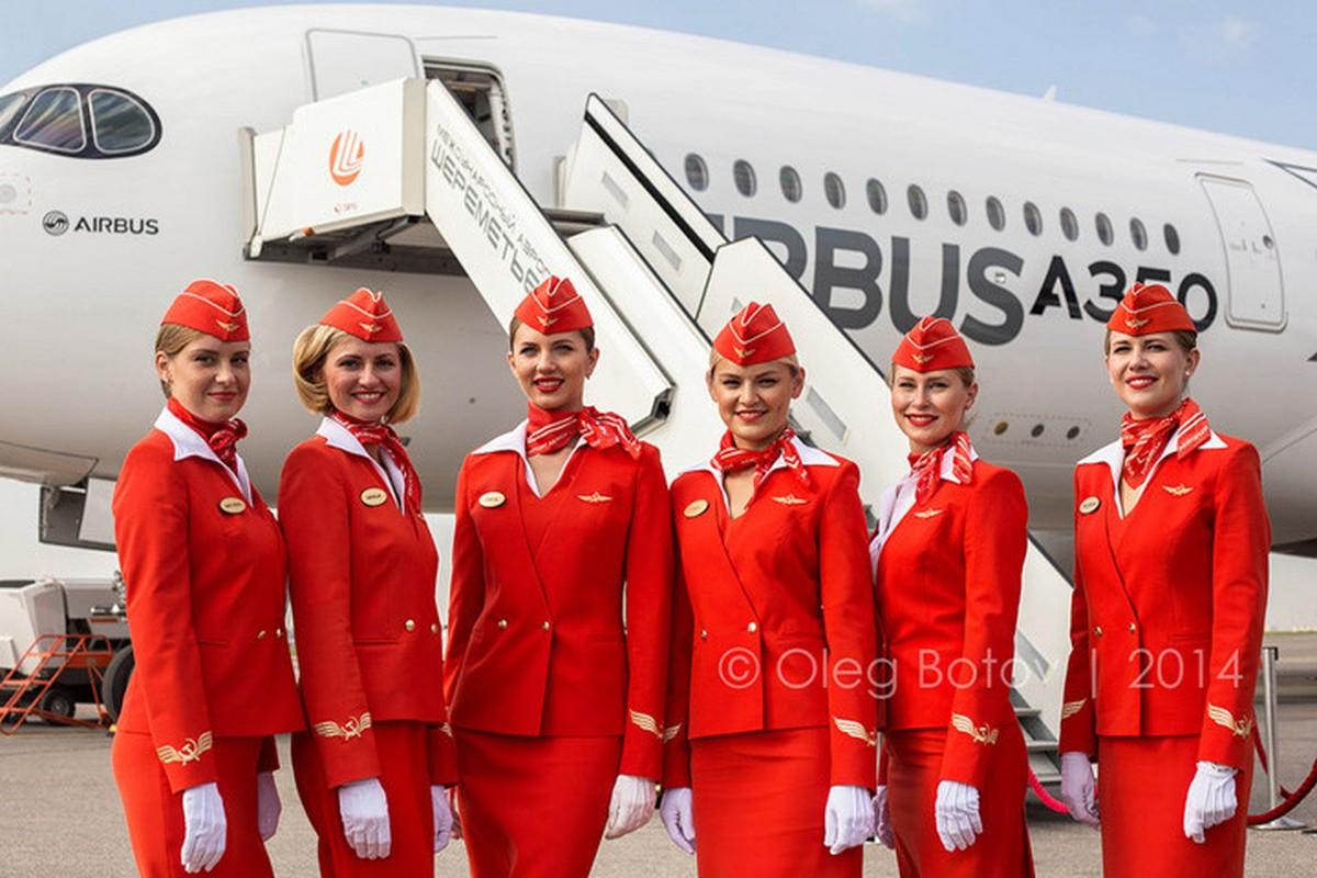 Anh: Cac nu tiep vien xinh dep Aeroflot