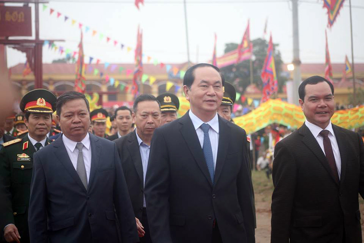Anh: Chu tich nuoc Tran Dai Quang lai may cay o le hoi Tich Dien