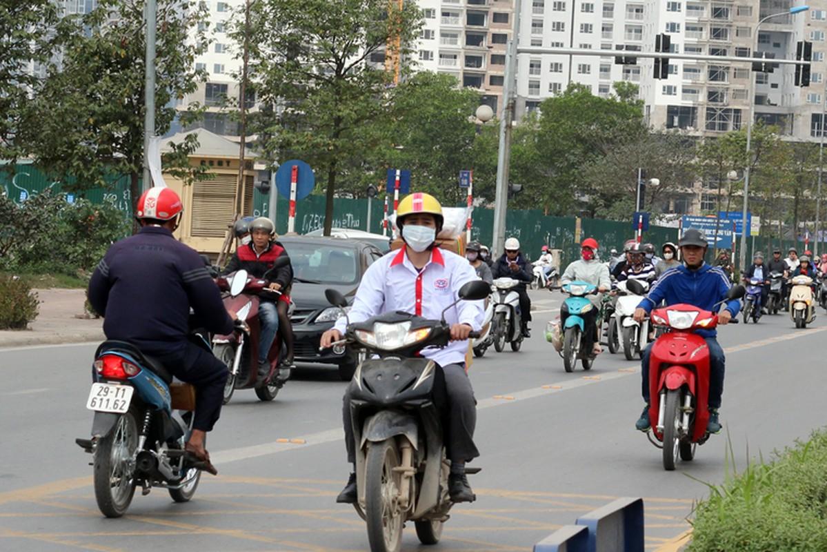 Anh: Dong xe may di nguoc chieu gay nao loan duong Ha Noi-Hinh-4