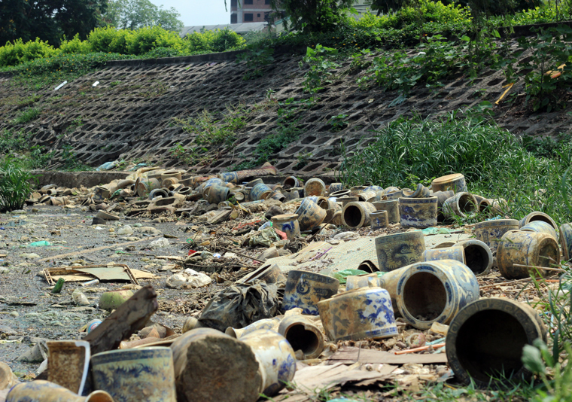 Anh: Kinh hoang canh bat huong va rac ban ngap ho Den Lu - Ha Noi-Hinh-10