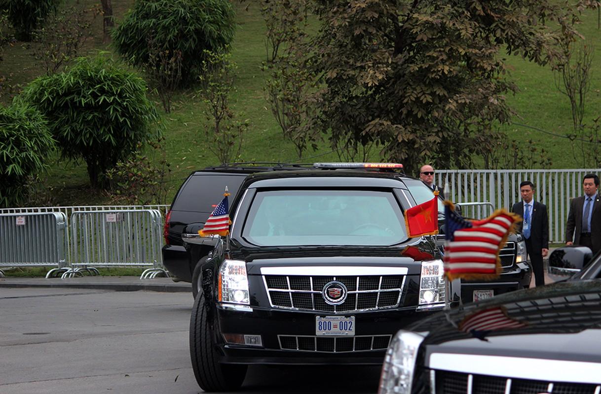 """Can canh """"Quai thu"""" Cadillac One dua Tong thong Trump roi Ha Noi-Hinh-4"""