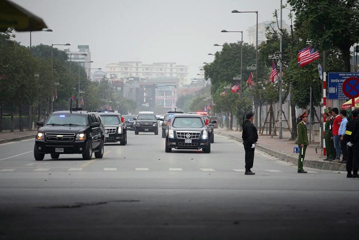 """Can canh """"Quai thu"""" Cadillac One dua Tong thong Trump roi Ha Noi-Hinh-8"""