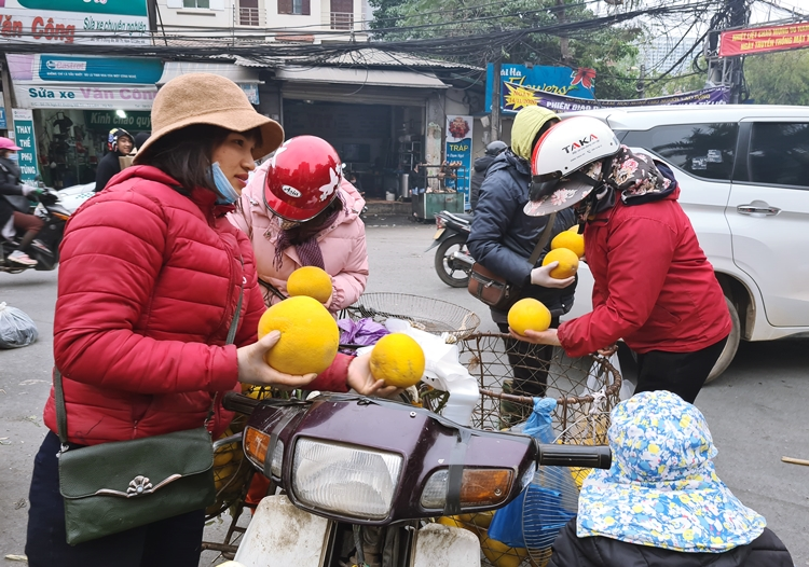 Ha Noi: Hoa qua khong ro nguon goc dua nhau xa hang can Tet-Hinh-10