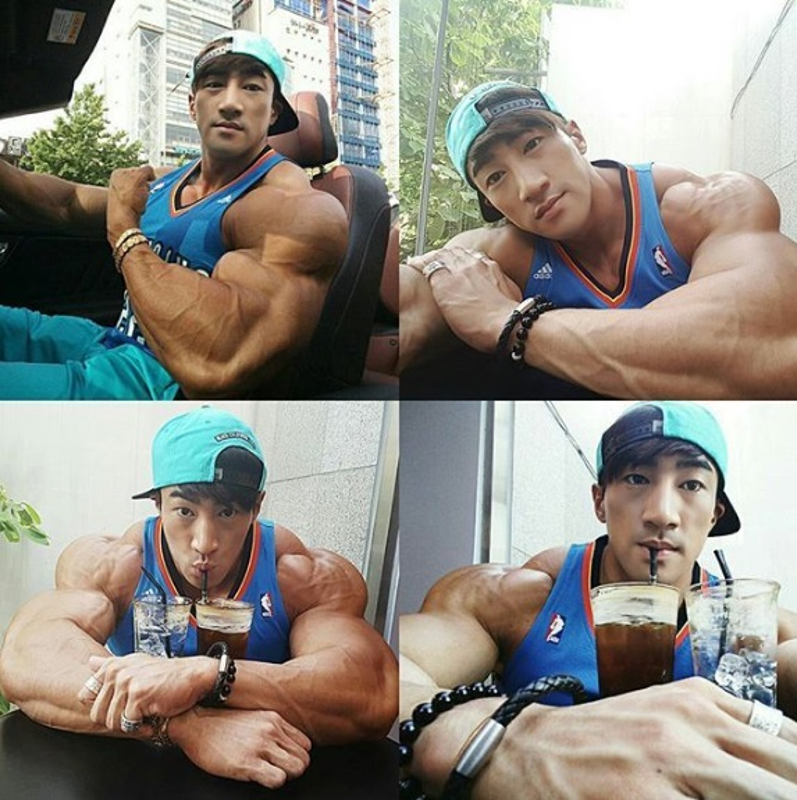Hot boy Han Quoc khoe co bap gan guoc gay choang-Hinh-6