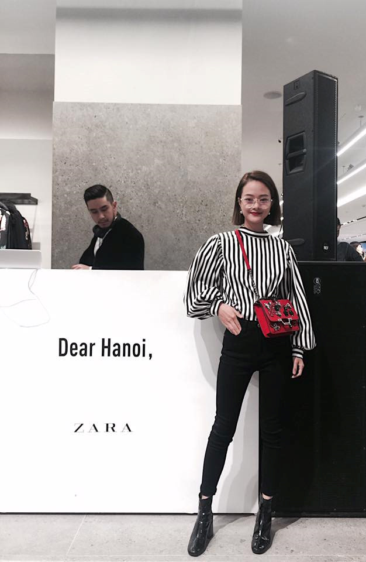 Hot girl check-in tai cua hang H&M, Zara dau tien tai Ha Noi-Hinh-9