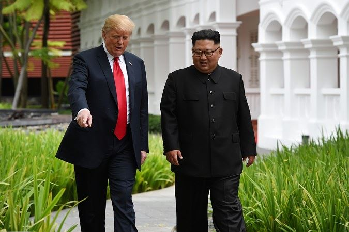 Ben trong khach san tung to chuc hoi dam Trump - Kim tai Singapore