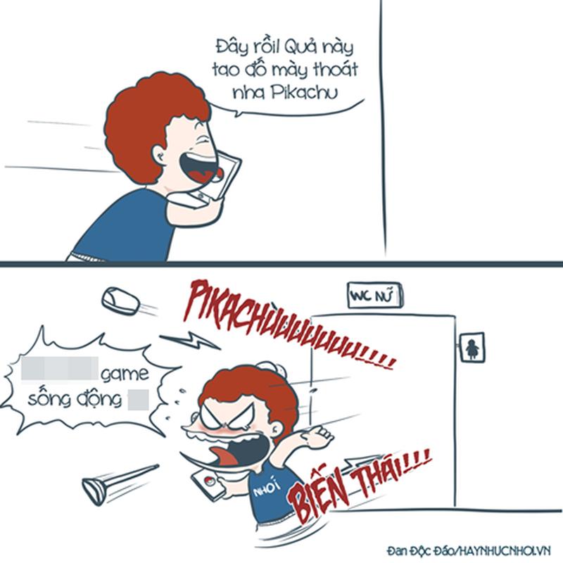 Chet cuoi voi anh che game Pokemon Go cua dan mang