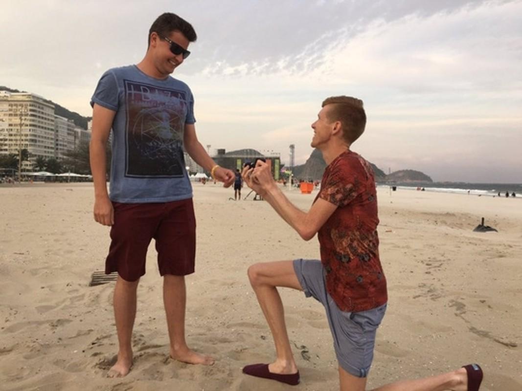 Olympic Rio 2016 chung kien man cau hon dong tinh gay soc