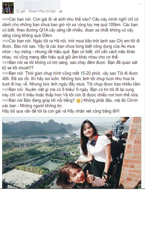 Co gai phuot SG - HN trong 40h dap tra du luan the nao?-Hinh-5