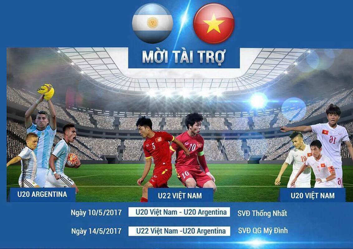"DT Viet Nam moi Argentina ""luyen gio"" truoc them U20 World Cup"