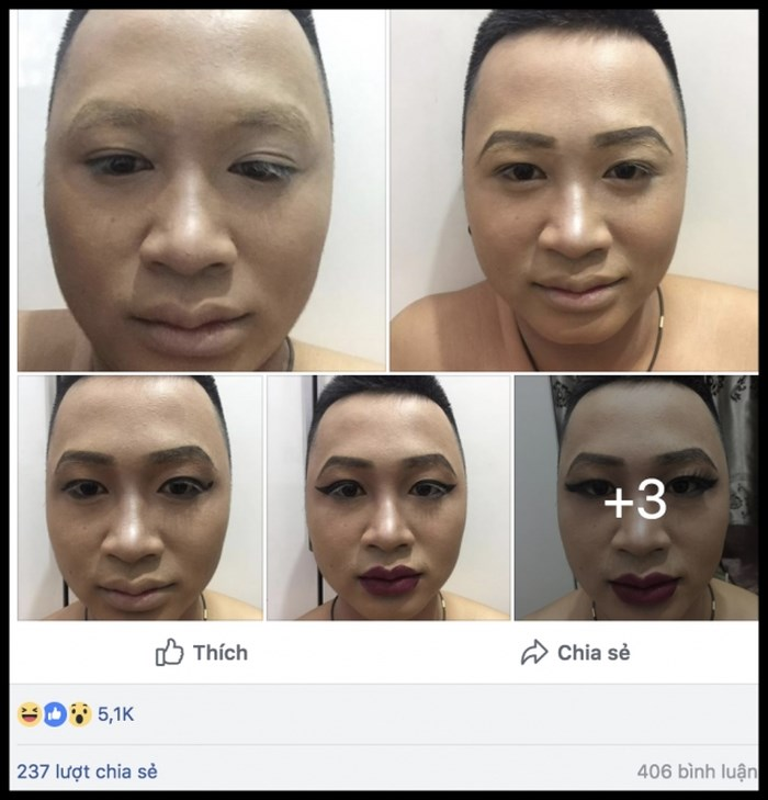Buc anh gay nhieu tranh cai: Make up giup hoan doi khuon mat?-Hinh-9