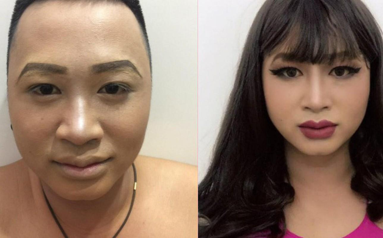 Buc anh gay nhieu tranh cai: Make up giup hoan doi khuon mat?