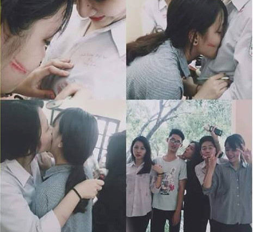 "CDM ""xon xao"" canh HS hon nhau giua san truong mua be giang-Hinh-5"