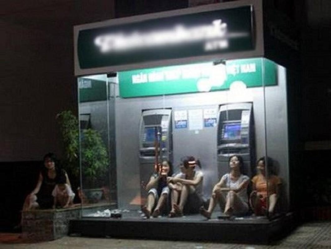Nang nong dinh diem, nguoi dan tron vao cay ATM giai nhiet-Hinh-6