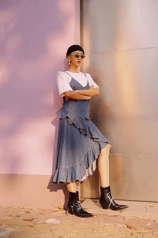 Dien do nylon, hot girl Quynh Anh Shyn gay nong mat cuc do-Hinh-9