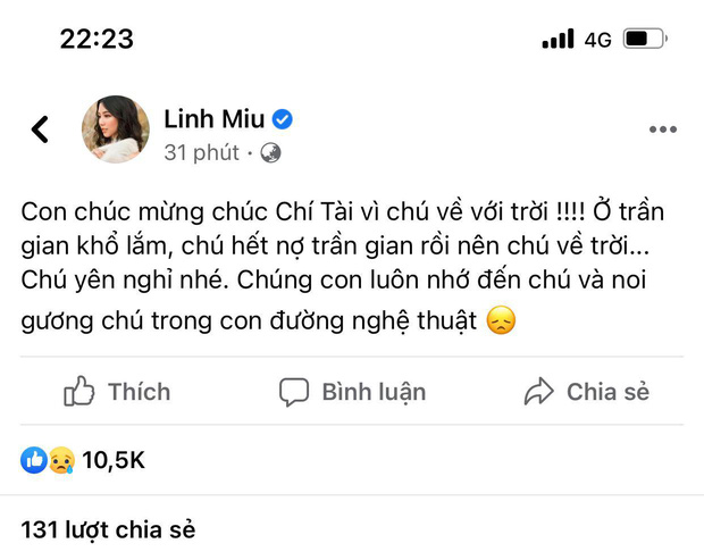 Dang status ve NS Chi Tai chang giong ai, Linh Miu gay phan no-Hinh-2