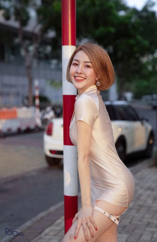 Chiec quan phan chu, hot girl Tram Anh lo vung sieu nhay cam-Hinh-11