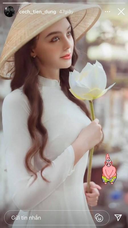 Ban gai Tay cua Bui Tien Dung dien ao dai ngam ma me-Hinh-3