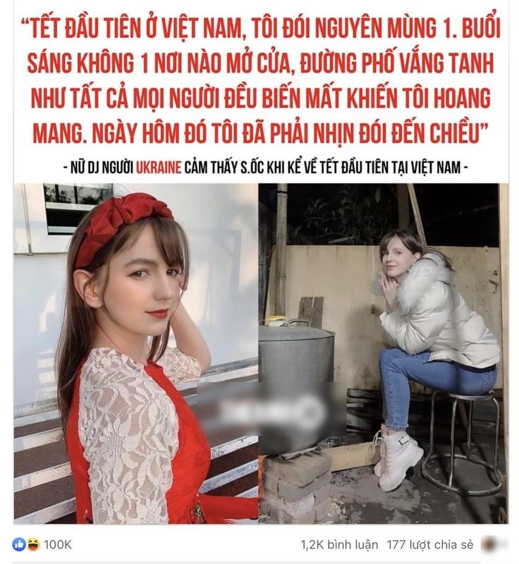 Nu DJ Ukraine lan dau chia se ve viec don Tet tai Viet Nam