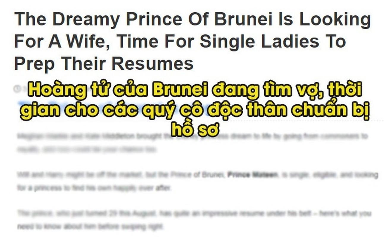 Ro tin Hoang tu Brunei tuyen vo, hoi chi em thi nhau ung tuyen