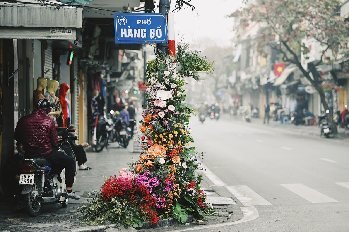Hang loat cot den Ha Noi no hoa chao mung Quoc te Phu nu-Hinh-2