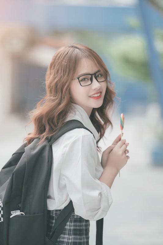 Nu sinh ben duyen voi mau anh va duoc khen xinh nhu hot girl Han Quoc