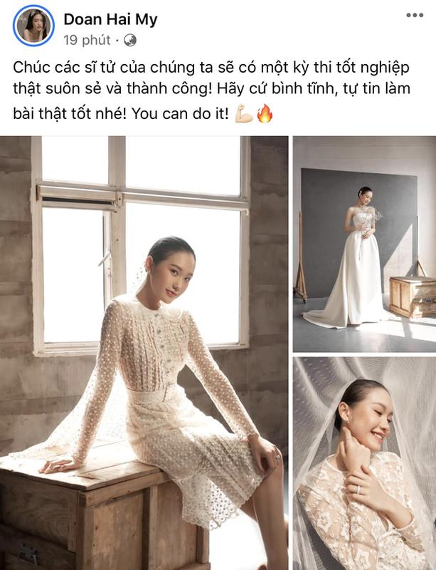 Ban gai Doan Van Hau khoe ky niem di thi tot nghiep THPT