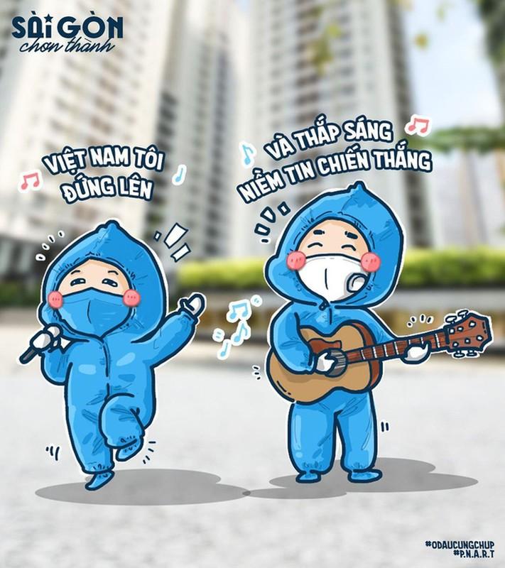 Bo tranh Sai Gon chong dich sieu cute ai cung mim cuoi-Hinh-10