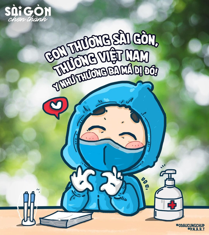 Bo tranh Sai Gon chong dich sieu cute ai cung mim cuoi-Hinh-2