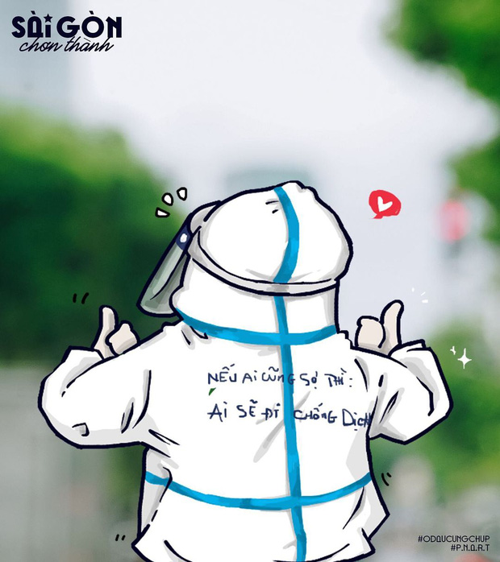 Bo tranh Sai Gon chong dich sieu cute ai cung mim cuoi-Hinh-3