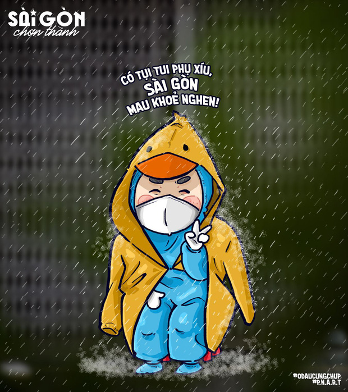 Bo tranh Sai Gon chong dich sieu cute ai cung mim cuoi-Hinh-4
