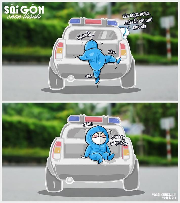 Bo tranh Sai Gon chong dich sieu cute ai cung mim cuoi-Hinh-5