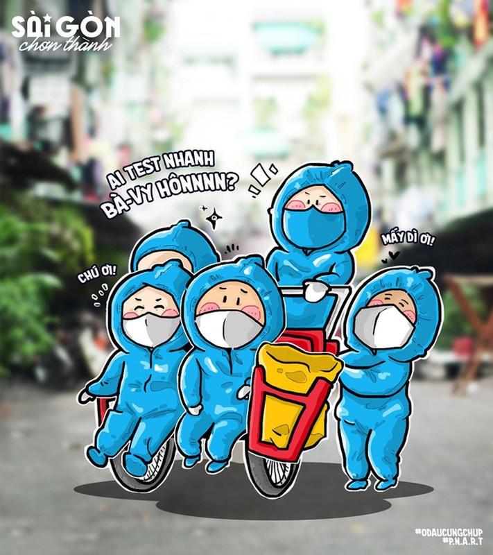 Bo tranh Sai Gon chong dich sieu cute ai cung mim cuoi-Hinh-6