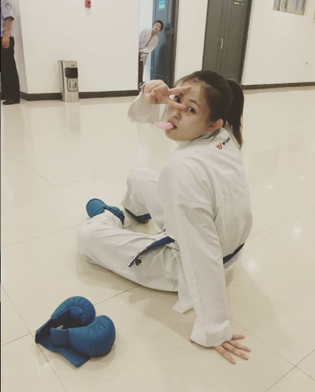 Nu hoang Karate xu Trung tai Olympic Tokyo lo nhan sac chuan thien than-Hinh-4
