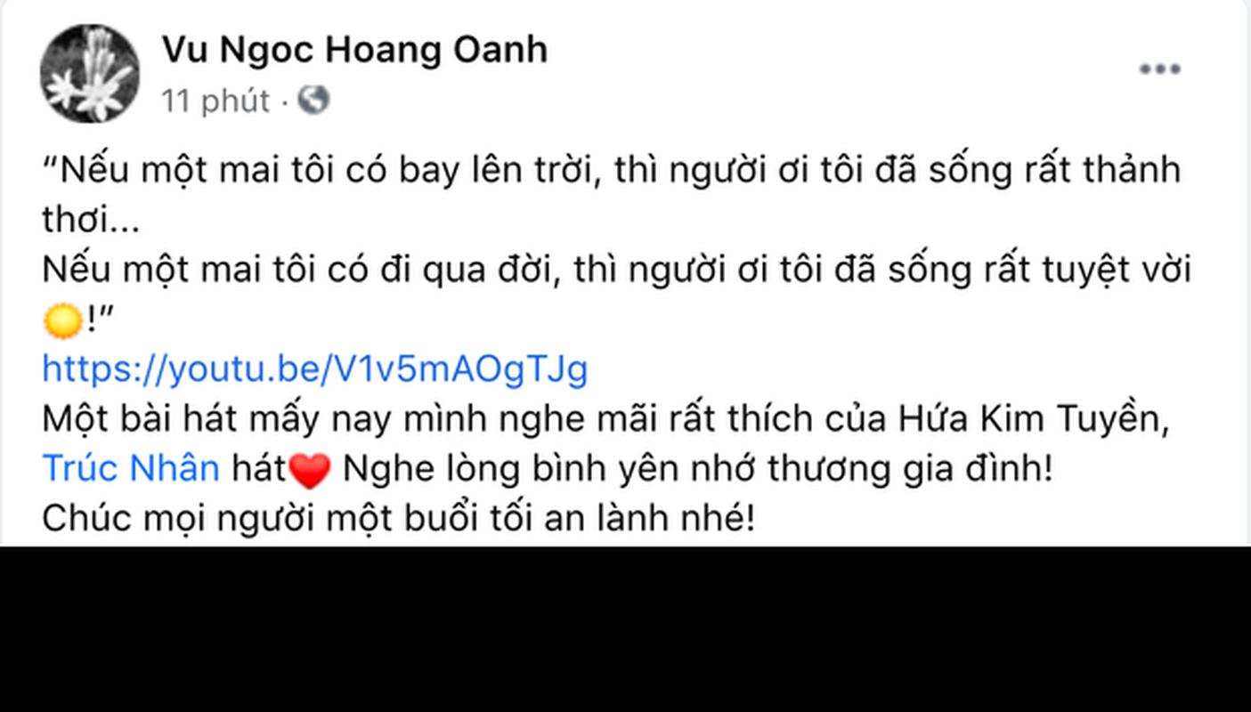 Ban gai cu Huynh Anh co status an y sau khi bi