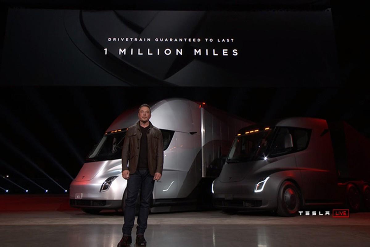 Xe dau keo chay dien Tesla Semi Truck gia 3,4 ty dong