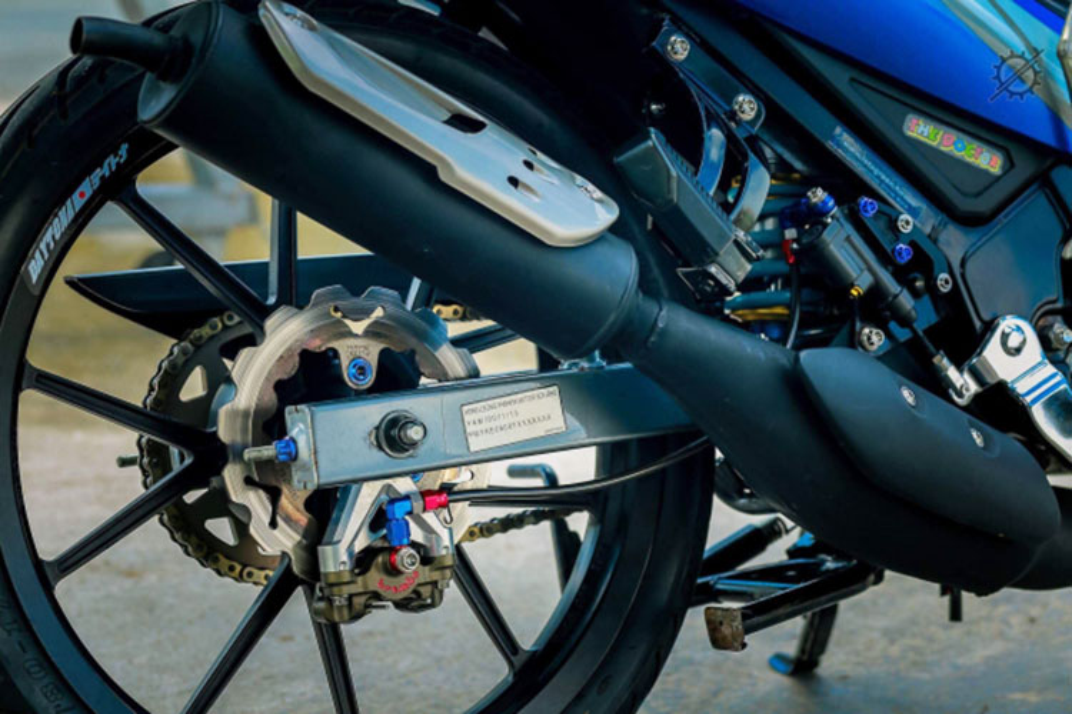 Chi tiet xe may Yamaha Z125 do nua ty dong o mien Tay-Hinh-8