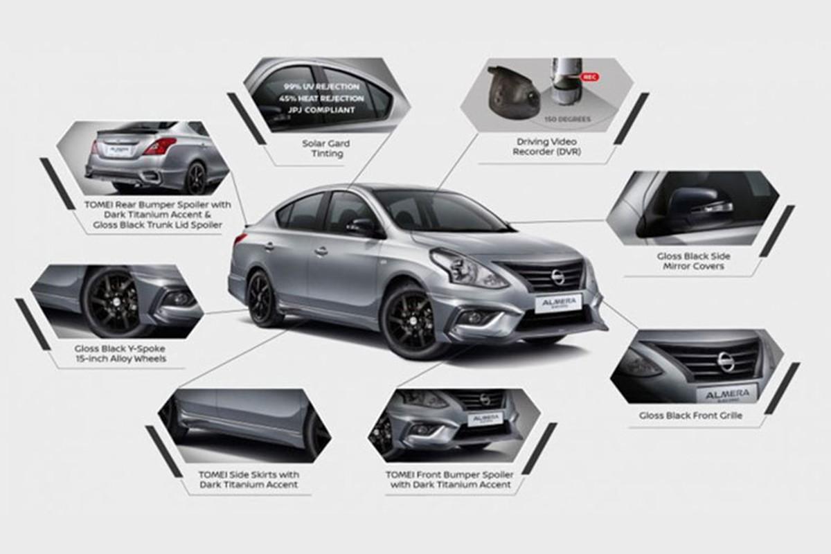 Sedan gia re Nissan Sunny co them ban Black Series moi-Hinh-9