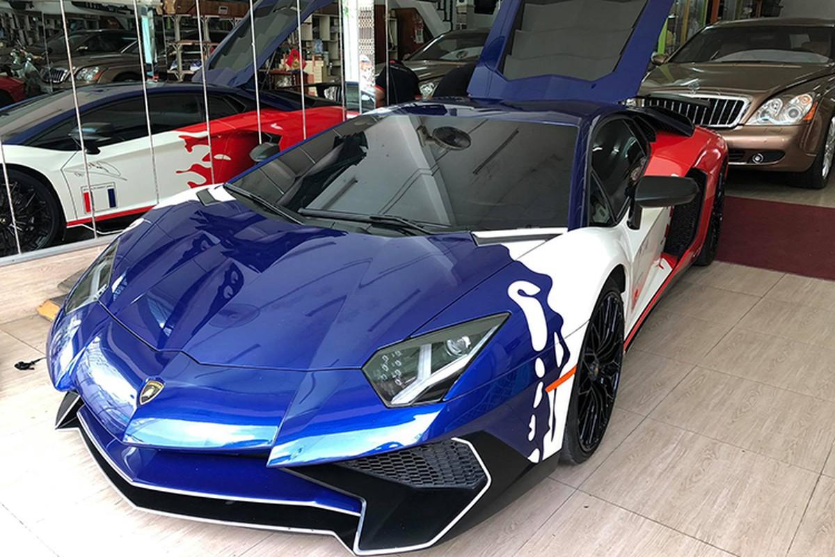 Lamborghini Aventador SV Minh Nhua ve zin sap den tay chu moi