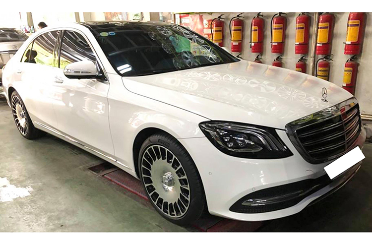 Chi 250 trieu do mam Mercedes S450L thanh Maybach o Ha Noi