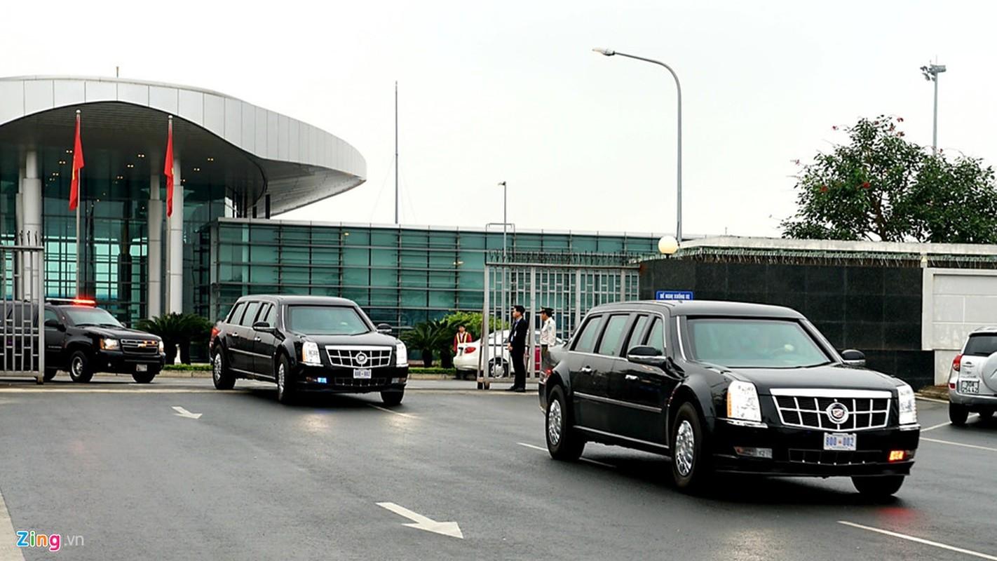Tong thong Trump mang sieu xe Cadillac One nao toi Viet Nam?