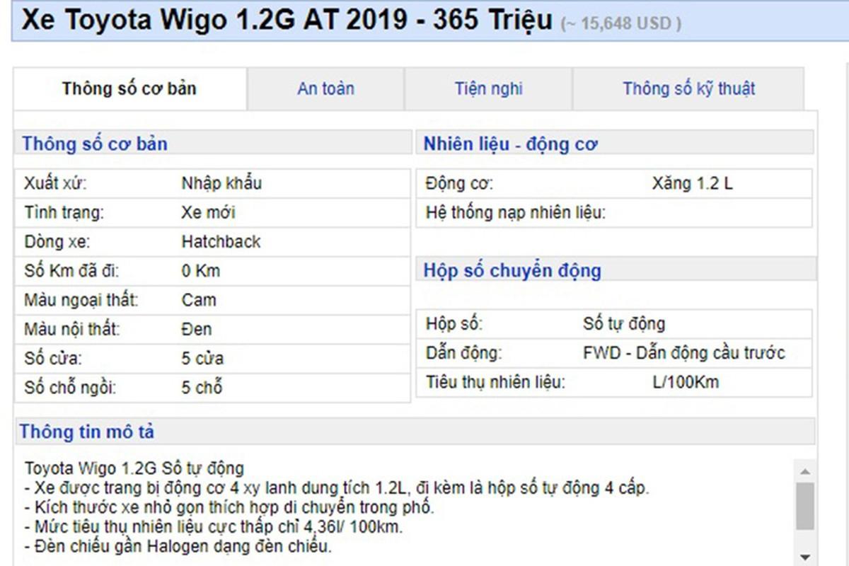 Toyota Wigo xuong gia, con 305 trieu tai Viet Nam-Hinh-2